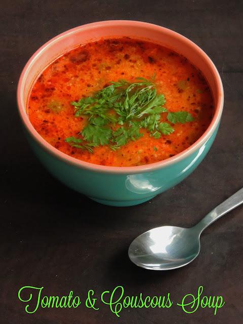 Tomato & couscous Soup