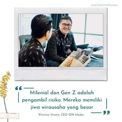 Winston iden media tentang milenial dan gen z