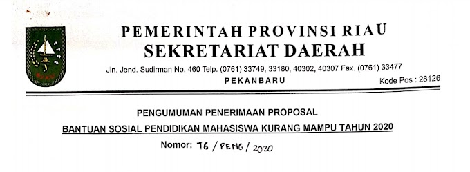 Besiswa Bantuan Sosial Pemprov Riau