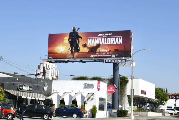 Star Wars Madalorian series launch billboard