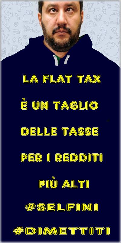 Perché la Flat Tax non aiuta i poveri  Il punto è che lo Stato italiano non sta chiedendo di poter fare più deficit per dare da mangiare agli italiani ma per abbassare le tasse. Salvini qui non si sta certo rivolgendo all'Europa o alla Commissione ma agli italiani. Il suo problema è quello di far passare un taglio delle tasse per i redditi più alti come se fosse un favore e un aiuto ai ceti meno abbienti o addirittura ai poveri.