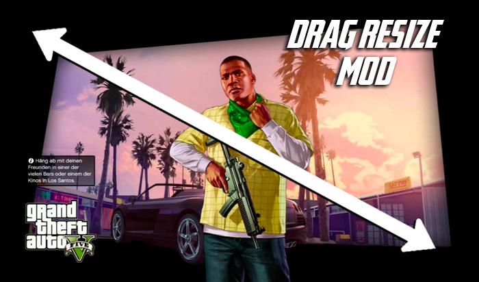 GTA 5 Drag Resize Mod Download   GTA V Lag Fix Mod