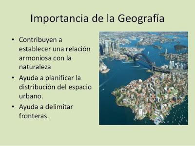 Importancia de la geografía