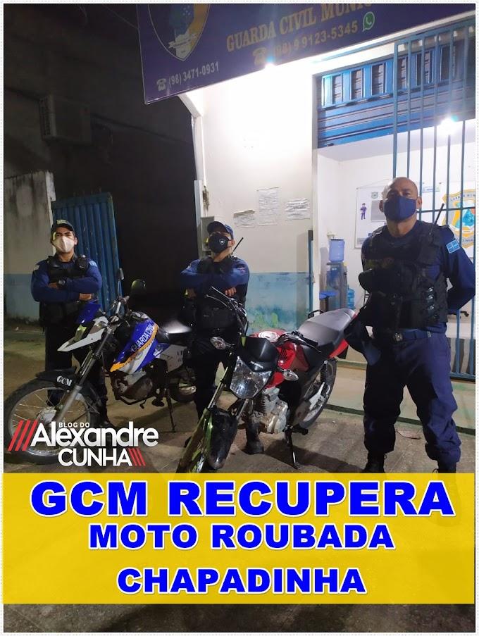 Ação conjunta da GCM e AGTs  recupera moto tomada de assalto em Chapadinha