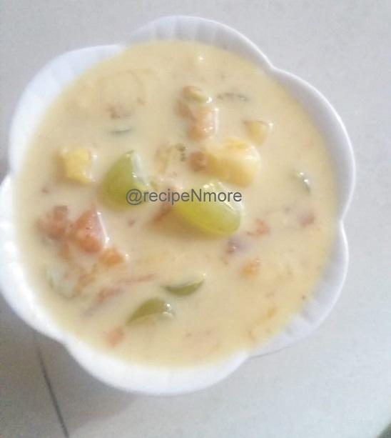 फ्रूट कस्टर्ड रेसिपी मराठीमध्ये | Fruit Custard recipe in marathi