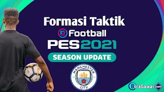 Formasi Taktik Terbaik Manchester City PES 2021