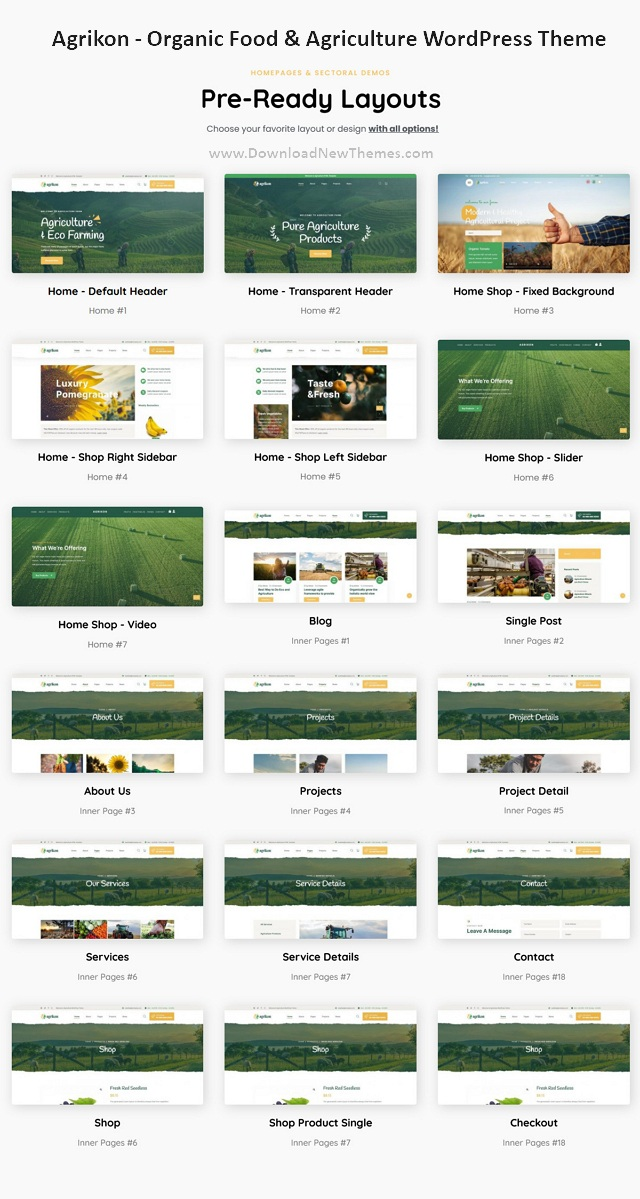 Organic Food and Agriculture WordPress Theme