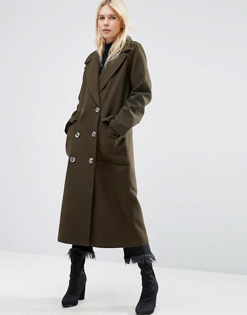 asos maxi coat, asos green maxi coat, green maxi coat,