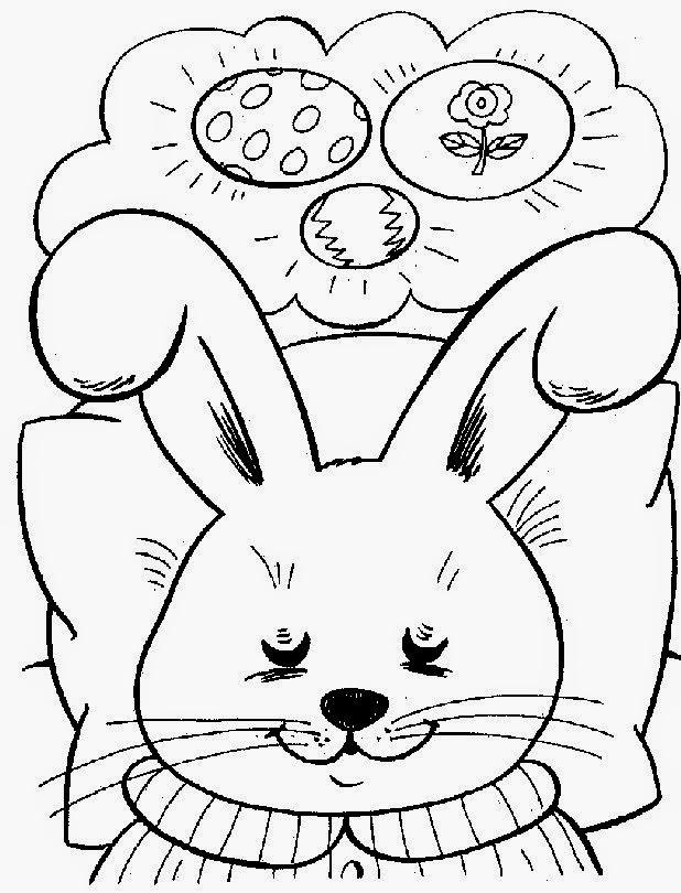 Desenhos, riscos e moldes de coelhos e coelhinhos para colorir, pintar, imprimir! Desenhos de Páscoa!