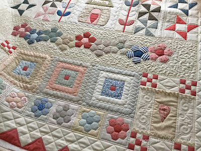 My Happiness is Home Sweet Home' quilt , made by Karen