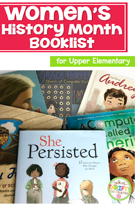 Women's history month picture books to read aloud to your upper elementary students that will inspire them and educate them on the contributions made by many influential women of the past and in the present.