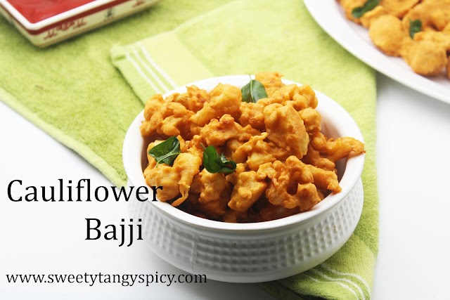 Cauliflower bajji Recipe | Gobi Pakoda Recipe | Cauliflower Pakoda Indian Style