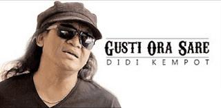 Lirik Lagu Gusti Ora Sare (Dan Artinya) - Didi Kempot
