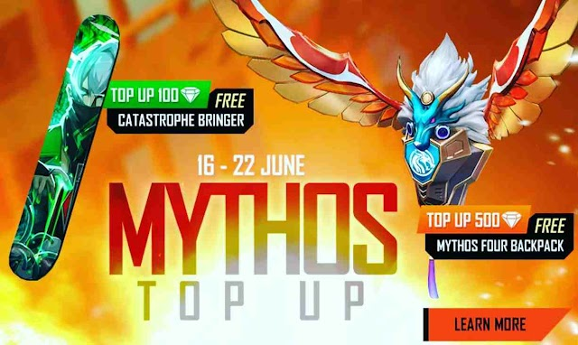 Free Fire Mythos Top-up Event Redeem Code For Free