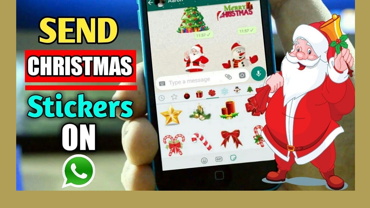 How to Send Merry Christmas Stickers and Images to your loved ones from WhatsApp