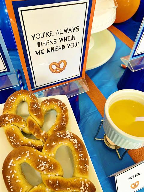 Pretzel Party and toppings @michellepaigeblogs.com