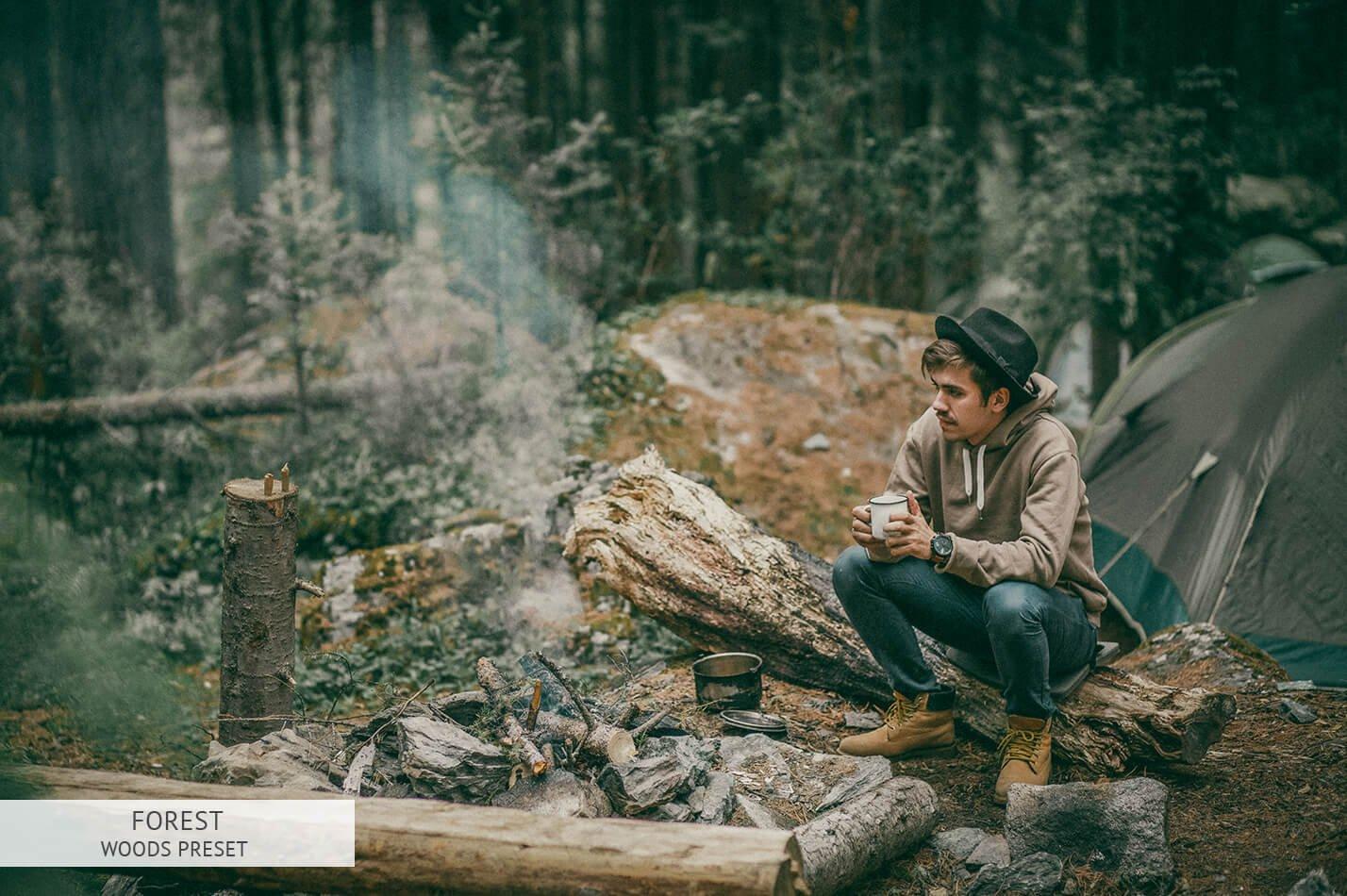 Presets Tone Màu Xanh Lá Cây Phù Hợp Với Ảnh Dã Ngoại – Forest Lightroom Presets (DNG, XMP, LR)
