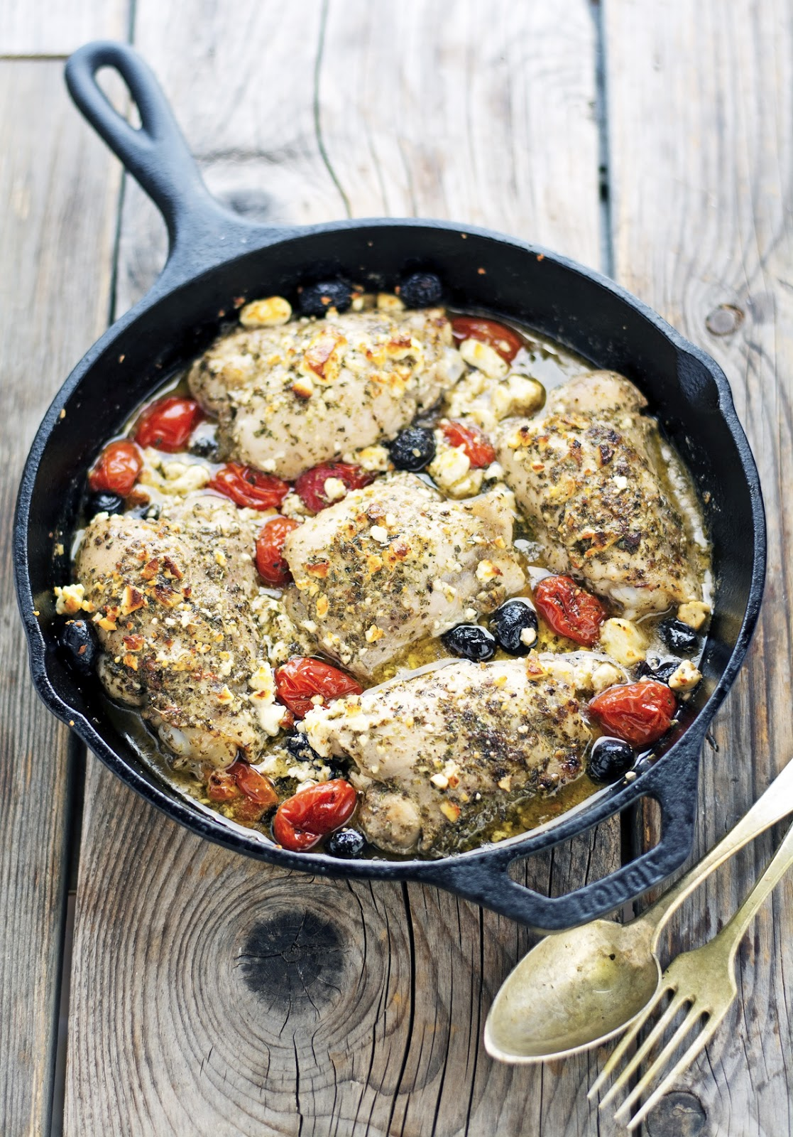 Oven Roasted Greek Chicken Thighs