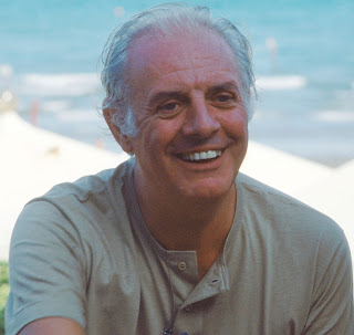 Dario Fo pictured in 1985 at the Venice Film Festival
