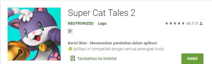 Game Platformer Terbaik untuk Android Super Cat Tales 2