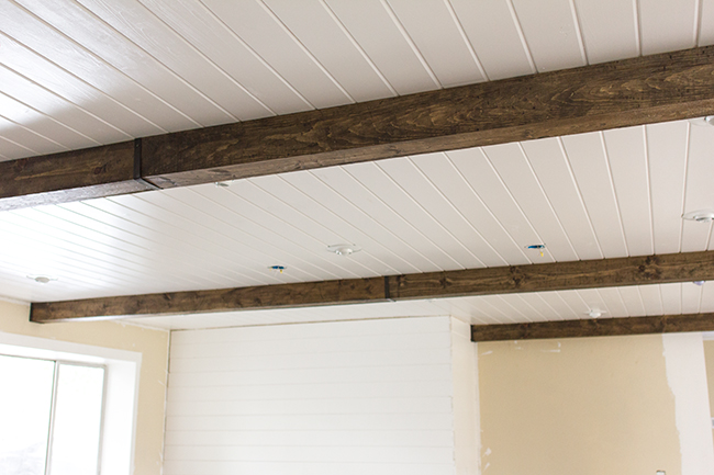 Kitchen Chronicles Diy Wood Beams Jenna Sue Design Blog