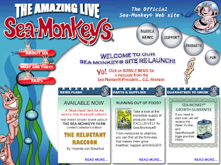 Sea-Monkeys® Web-Site circa 2006