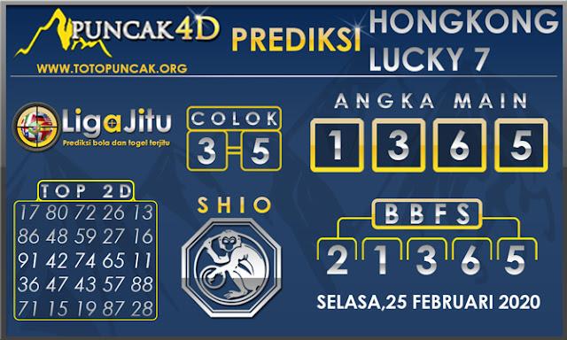 PREDIKSI TOGEL HONGKONG LUCKY7 PUNCAK4D 25 FEBRUARI 2020