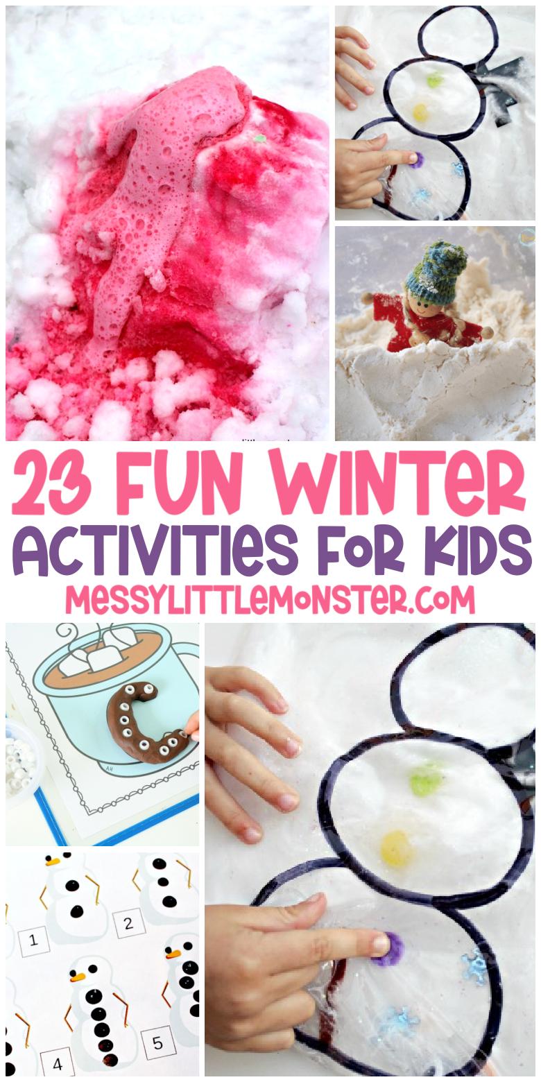 Kids winter activities. Winter activities for toddlers, preschoolers and school aged kids.