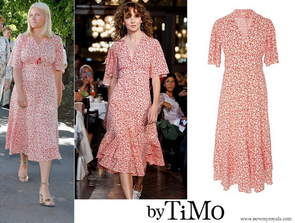 Crown Princess Mette Marit wore By TiMo Cotton Kitchen Dress