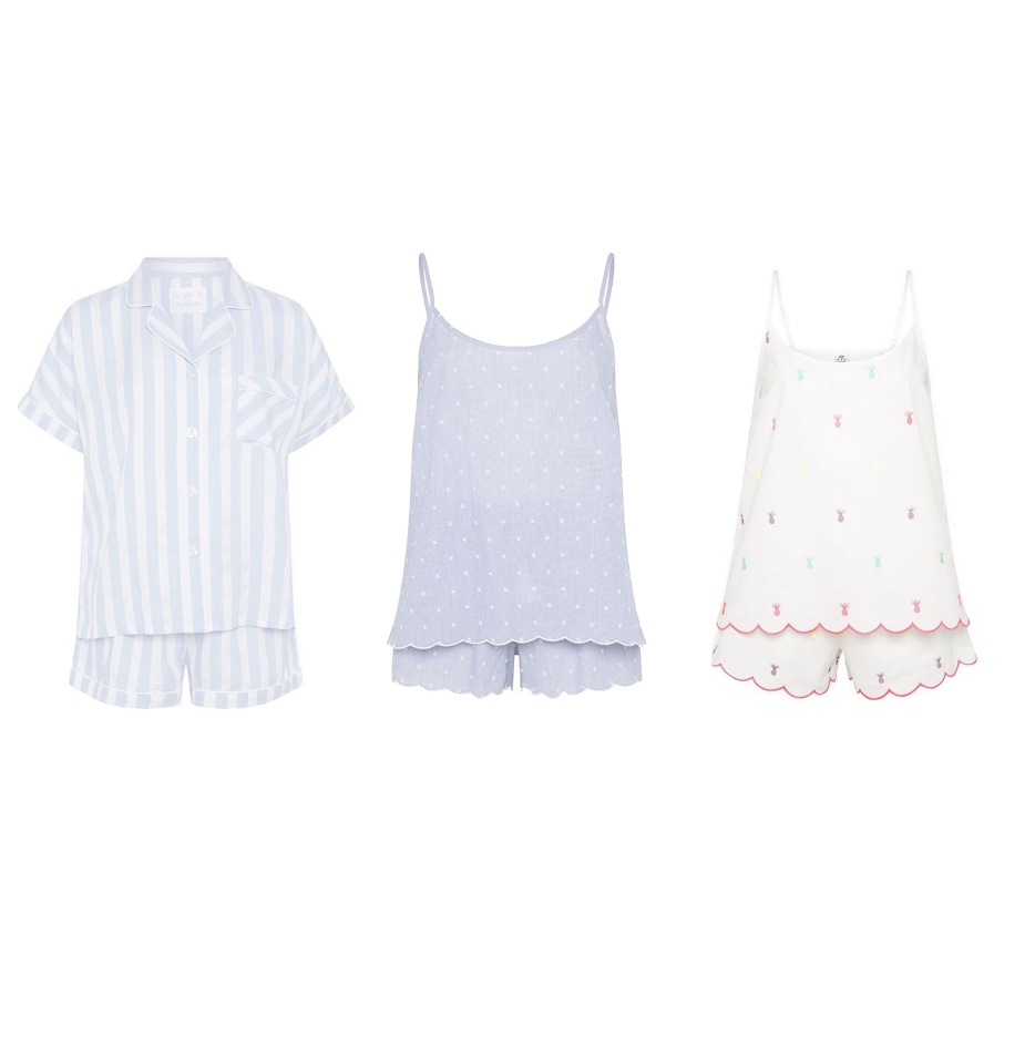 my midlife fashion, tesco f and f clothing, tesco f and f clothing ss18, tesco f and f clothing striped revere collar short pyjamas, tesco f and f clothing pineapple embroidered cami and shorts, tesco f and f clothing dobby spot cami and shorts pyjama set