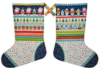 Novelty christmas stcokings fabric from Makower