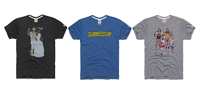 WWE SummerSlam T-Shirt Collection by Homage