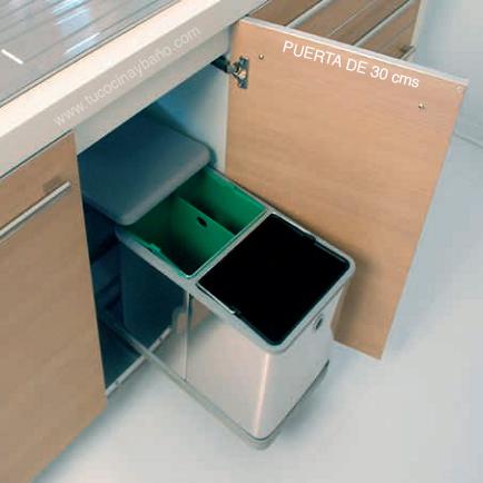 cubo basura mueble cocina 30 extraible