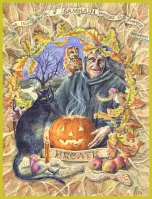 The ancient Halloween ritual of Samhain. Photo: Wikimedia.org.