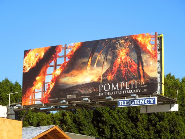 Pompeii movie erupting volcano billboard