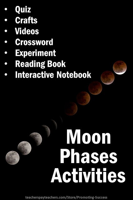 phases of the moon teaching printable activities