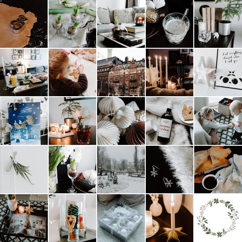 joulu, joulukalenteri, instagram, visuaalinen joulukalenteri,