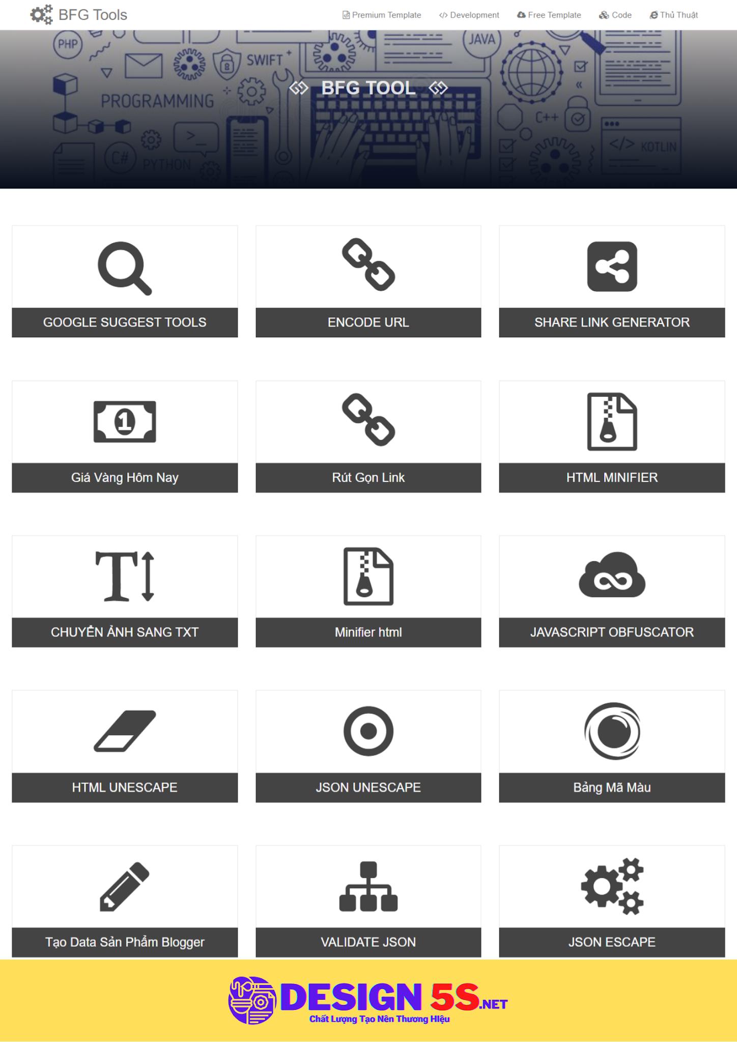 Theme Công Cụ Web - Tiện ích Hỗ Trợ Web Design VSM13 - Ảnh 1