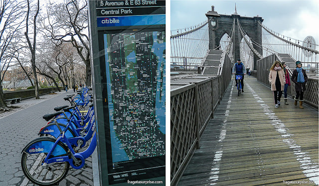 Transporte em Nova York - bicicletas compartilhadas City Bike