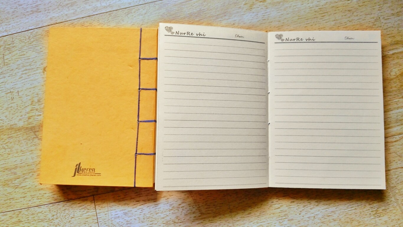 Halaman isi notebook handmade NurRe vhi by JL KEREN Creative