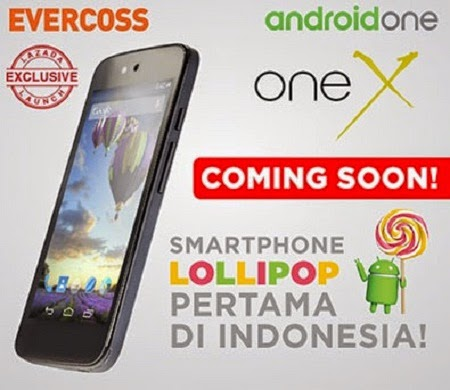 harga hp evercoss one X spesifikasi murah