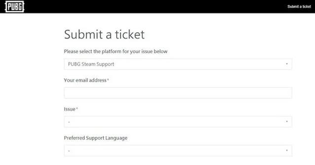 كيفية الإبلاغ عن الهكر في لعبة ببجي موبايل من خلال البريد الإلكتروني للعملاء؟