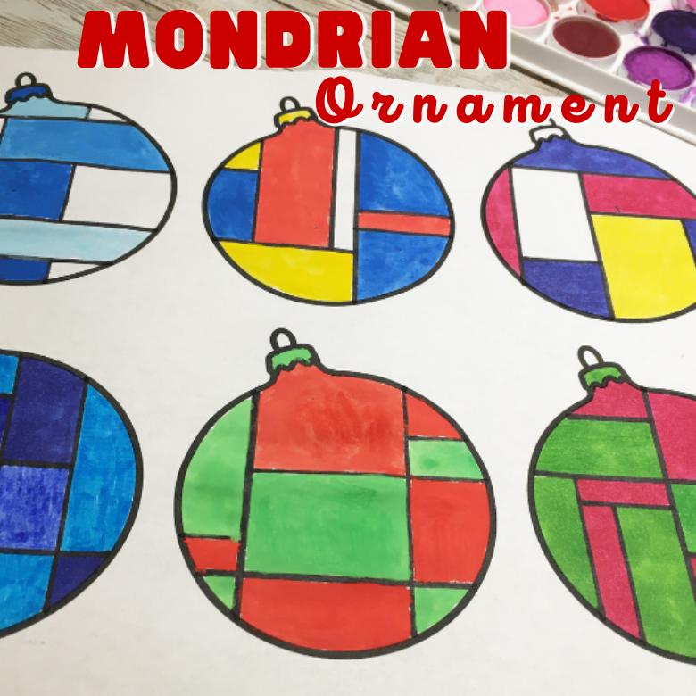 Mondrian ornament template