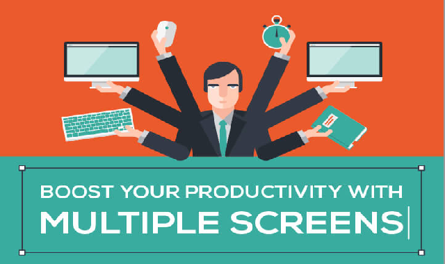 Increase efficiency by using multiple screens at a time