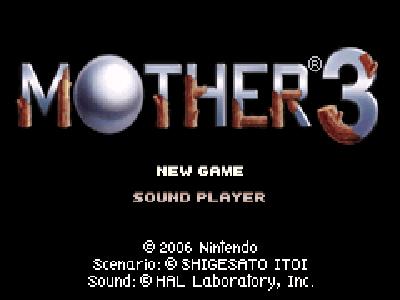 Mother 3 - Pantalla título RPG