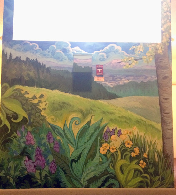 forest park portland, wildflower art, portland artist, portland mural, portland muralist, landscape mural, pacific northwest mural