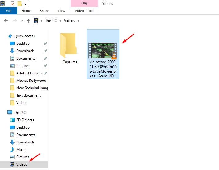 Klip akan disimpan ke folder 'Video'