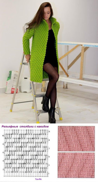 Patron - Crochet Imagenes Punto a crochet en diagonal en relieve por Majovel Crochet