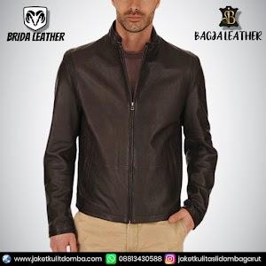 Jual Jaket Kulit Asli Garut Pria Domba Original Brida Leather B66 | WA 08813430588