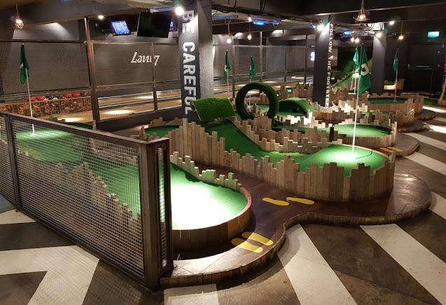 Minigolf at Lane7 in Newcastle